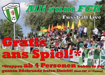 Freier Eintritt beim FC Kreuzlingen